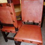 Argentina Leather Chair in Red Inglés