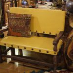 Argentina Leather Bench in Yellow