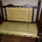 Rey Salomon Tooled Leather Bench #1 in Yellow