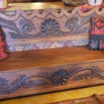 Spanish Hand-Carved Bench