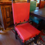 Argentina Tooled Leather Chair in Watermelon