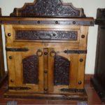 Alamo Pine Tooled Leather Nightstand