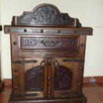 Alamo Walnut Tooled Leather Nightstand