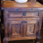 Hacienda Carved Mesquite Nightstand
