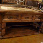 Blanco Sofa Table Travertine Inlay