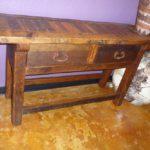 Elite Weathered Sofa Table 2 drawers