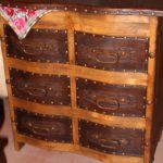 Hacienda Tooled Leather Curved Dresser