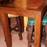 Mesquite Inlay Bistro Table