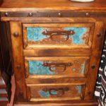 Hacienda Acid-Wash Copper 3 Drawers Nightstand