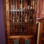 Gates & Acid Wash Copper Corner Bookcase