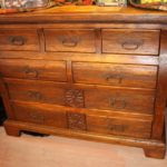 Carved Wormwood Marble Dresser
