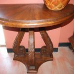 Half Moon Carved Console Table