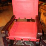 Argentina Leather Armchair in Watermelon