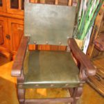 Argentina Leather Armchair in Forest Green